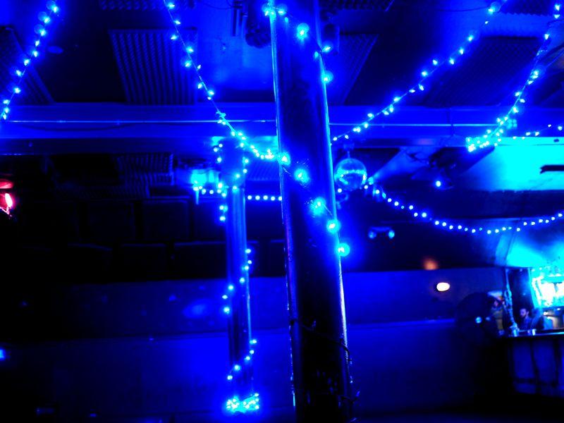 Glistening Strings of Blue